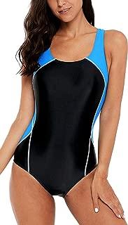 Women's Athletic One Piece Swimsuit Racing Racerback Swimwear
