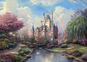 7x5ft Dreamy Castle Photography Backdrop for Kids Fairy Tale Princess and Prince Entertainment or Birthday Party Photo Backgrounds BV023