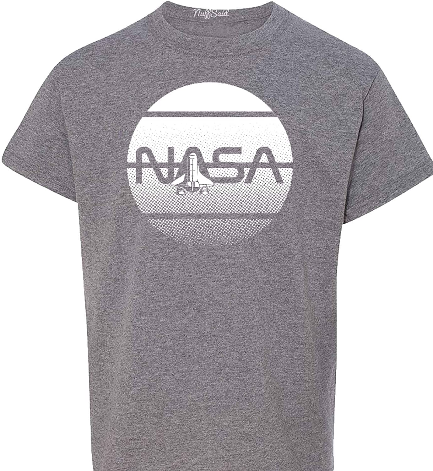 NuffSaid Youth NASA Challenger Space Ship T-Shirt - Children's Science Adventure Tee