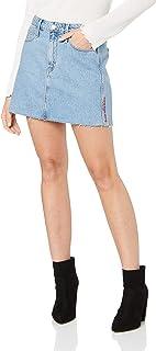 Calvin Klein Jeans Women's Mid Rise Skirt, Light Blue Denim, 33