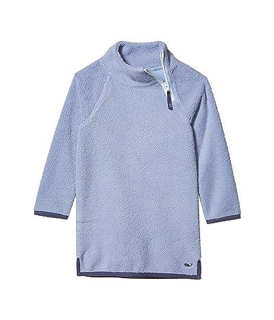 Vineyard Vines Kids Mock Neck Fuzzy Raglan Dress (Toddler/Little Kids/Big Kids) (Mystic Blue) Girl
