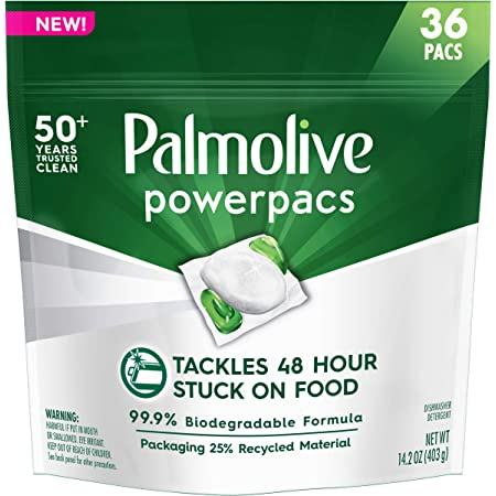 Palmolive PowerPacs Dishwasher Detergent Pods, No Added Fragrance - 36 count