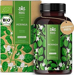 Holi Natural BIO Moringa Kapseln   180 vegane Kapseln   1800mg je Tagesdosis   ECHTE Moringa Oleifera   Traditionell Ayurvedischer Wunderbaum   Hochdosiert & Laborgeprüft 180 Kapseln
