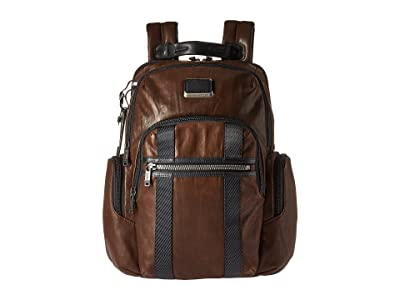 Tumi Alpha Bravo Nellis Backpack (Dark Brown Leather) Backpack Bags