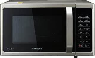 Samsung Ceramic Enamel Grill Convection Microwave Oven, Silver, 28 L (MC28H5015AS/SP)