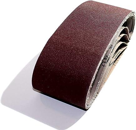 para lijadora de banda//correas abrasivas 10 x 330//13 x 457//20 x 520//100 x 915//50 x 686//75 x 533//75 x 457 mm grano 40-1000 5 bandas de lija