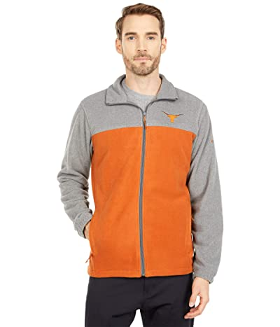 Columbia College Texas Longhorns Flankertm III Fleece Jacket (TEX Charcoal/Cedar) Men
