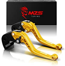 MZS Short Brake Clutch Levers Compatible with Yamaha YZF R1 R1M R1S 2015-2019| YZF R6 2017-2019 Gold