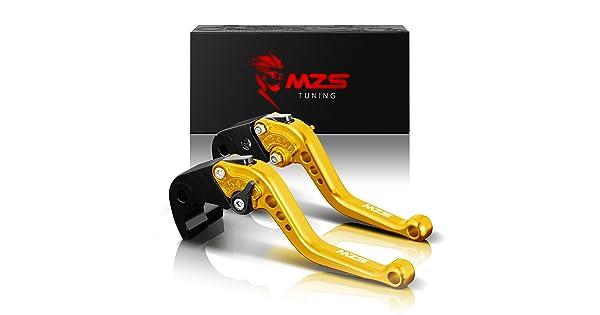 MZS Short Brake Clutch Levers for Yamaha ATV Banshee 350 YFZ350 2002-2008,Blaster 200 YFS200 2004-2006,Raptor 660 YFM660 2001-2004,Warrior 350 YFM350X 2002-2004,Wolverine 350 YFM350FX 2002-2005 Blue