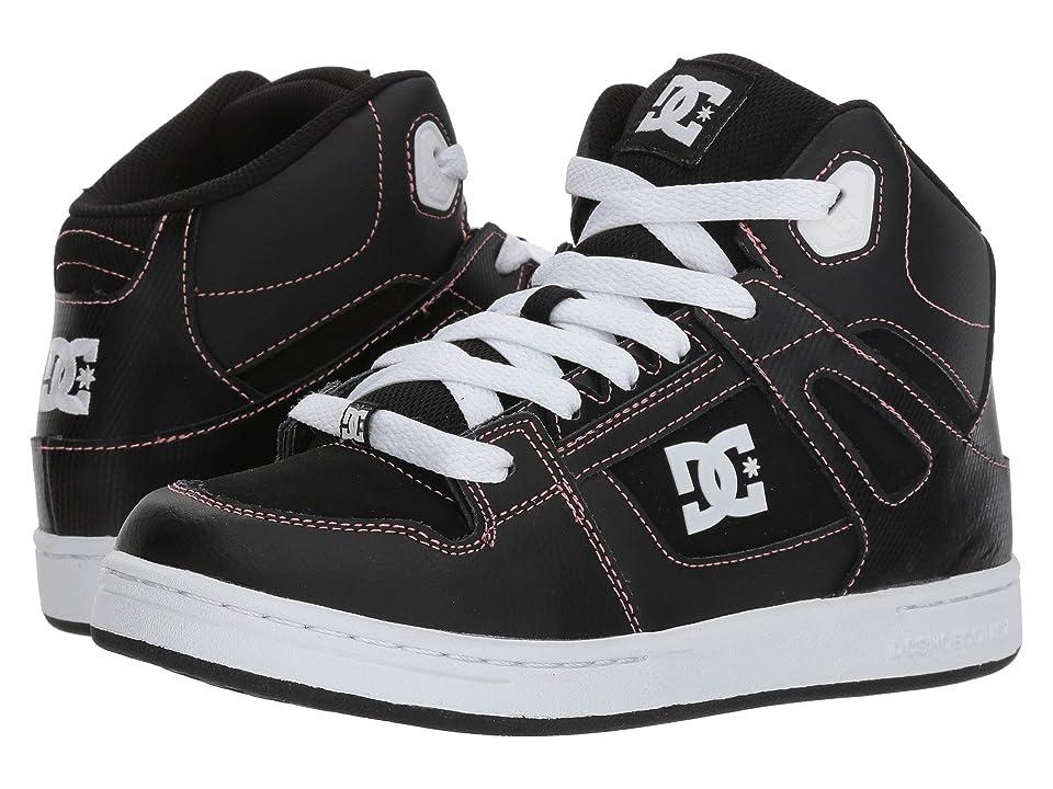 DC Kids Pure High-Top (Little Kid/Big Kid) (Black/Pink) Girls Shoes