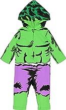 Marvel Avengers The Hulk Baby Boys' Zip-Up Hooded Costume Coverall