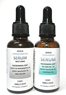 2 Serum, Suero Día y noche, Niacinamida 10% , Ácido Salicílico1%, Pantenol 3% , Zinc PCA3% , Tea tree oil 1% , Aceite de B...