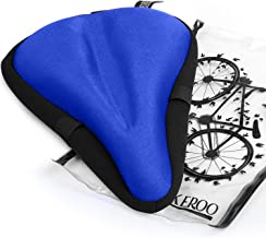 Most Comfortable Exercise Bike Seat Cushion Cover - (11 inches x 7 inches) Premium Quality Bicycle Saddle Pad with Soft Gel for Women and Men - Great for Indoor Cycling Class and Stationary Bikes