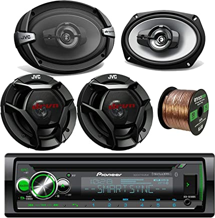 """18G 50FT Speaker Wire 6x9/"""" and 6.5/"""" Pioneer Speakers KDR490 USB CD Car Stereo"""