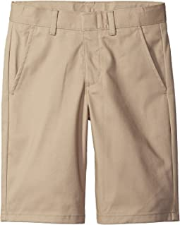 Nautica Kids Husky Flat Front Twill Shorts (Big Kids)
