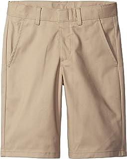 Husky Flat Front Twill Shorts (Big Kids)