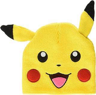 Bioworld Pokemon Pikachu Big Face Fleece Cap Beanie with Ears Yellow