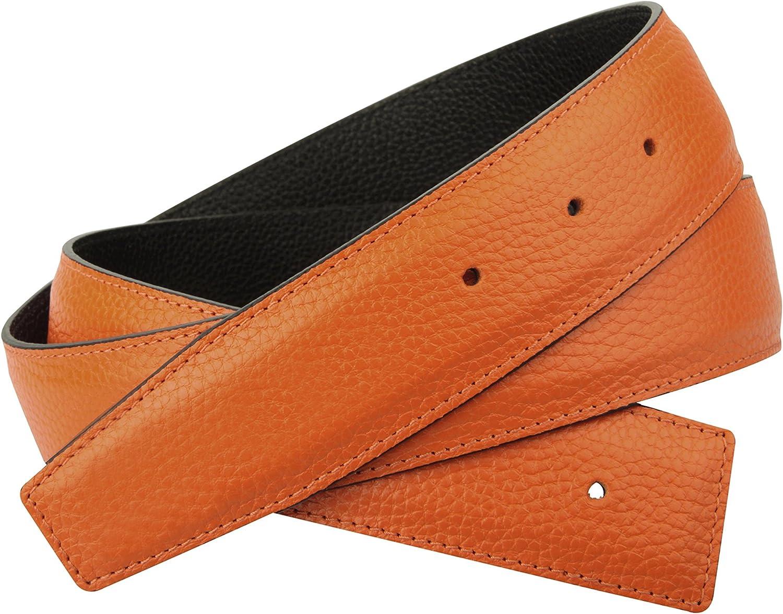 Cinturón reversible de auténtica piel naranja para hombre y mujer 31mm de ancho cinturón