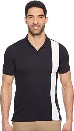Calvin Klein - Color Blocked Stripe Knit Polo