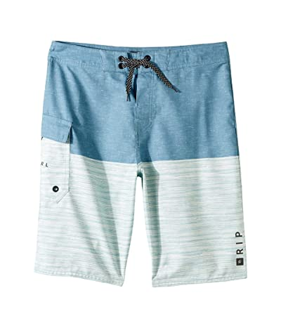 Rip Curl Kids Dawn Patrol Boardshorts (Big Kids) (Blue Grey) Boy