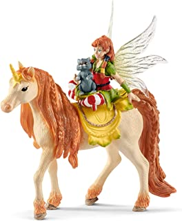 SCHLEICH bayala Fairy Marween with Glitter Unicorn Imaginative Figurine for Kids Ages 5-12