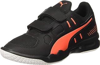 Puma Unisex Kid's Auriz V Jr Black-nrgy Red Whit Badminton Shoes