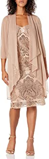 فستان R&M ريتشاردز للنساء مكون من قطعتين مزين برباميد داستر