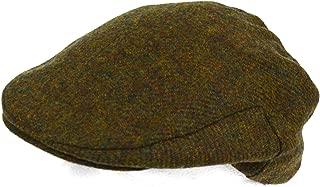 Mens Shooting/Flat/Peak Cap. 100% Pure Wool. Made in Irish Woolen Mill. Green Moss