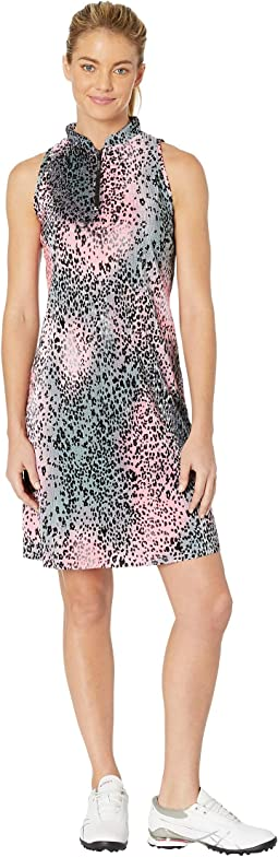 Crunchy Leopard Print Sleeveless Dress