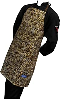 CHEFSKIN 2X Leopard Disegno Adult Big and Tall XXL Apron Beautiful Very Comfortable Quilted Pocket