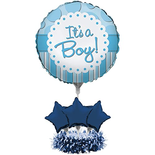 Creative Converting 268805 Air-Filled Its a Boy Balloon Centerpiece Kit Party Supplies One Size