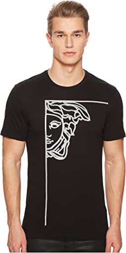 Versace Collection - Glitter Medusa Print T-Shirt