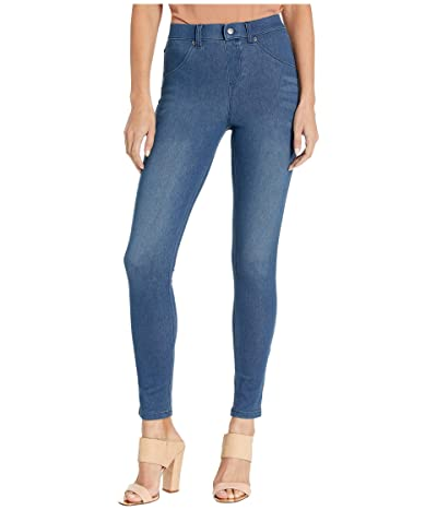 HUE High-Waist Ultra Soft Denim Leggings (Steely Blue Wash) Women
