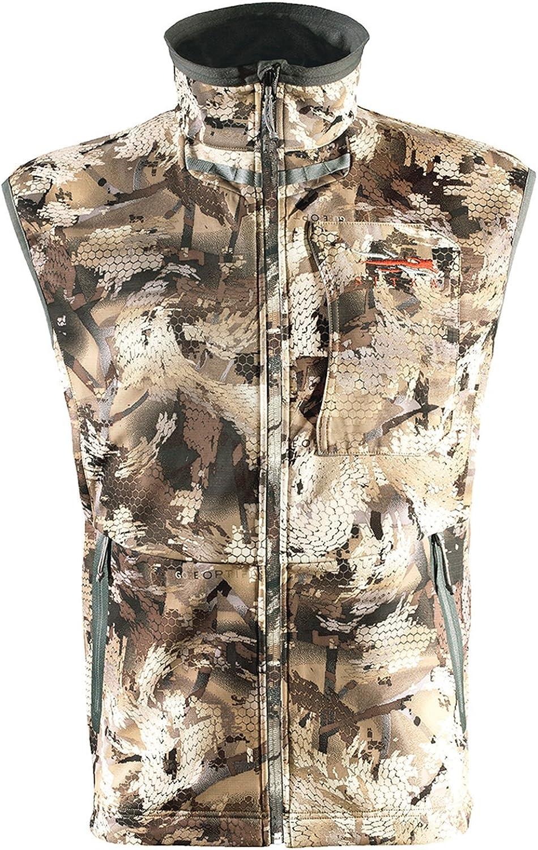 El Omaha Mall Paso Mall SITKA Gear Men's Hunting Water-Repellent Vest Dakota Camo
