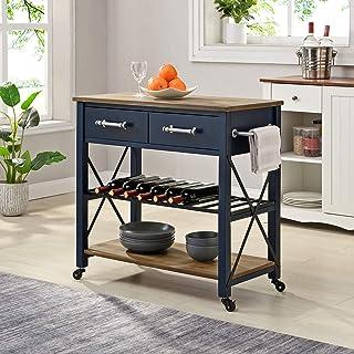 Amazon Com Kitchen Islands Carts Blue Kitchen Islands Carts Kitchen Dining Room Home Kitchen
