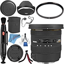 Sigma 10-20mm f/3.5 EX DC HSM Lens for Nikon #202306 + 82mm UV Filter + Lens Pen Cleaner + Fibercloth + Lens Capkeeper + Deluxe Cleaning Kit + Flexible Tripod Bundle