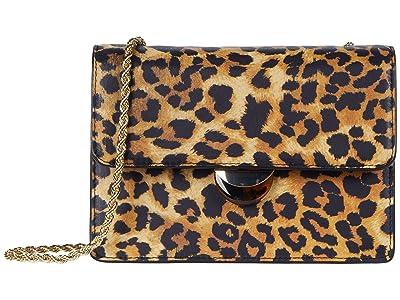 Loeffler Randall Amina Small Chain Crossbody (Leopard) Handbags