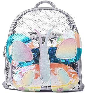 Baby Toddler Girls Backpack School Bag Travel Preschool Kindergarten Nursery Bag Little Kids Children Sequin Glitter Spark...