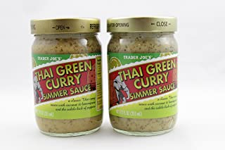 Trader Joes Thai Green Curry Simmer Sauce, 12 oz Jar - 2 pack