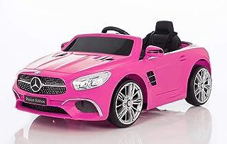 19df48010 BC BABY COCHES Coche eléctrico niños 12v con Mando Mercedes SL400 (Rosa)