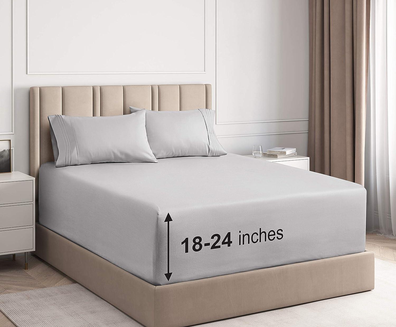 Extra Sales Deep New York Mall Pocket Sheets - Set Queen Piece 4 Sheet