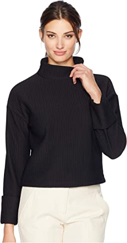 Brushed Knit Long Sleeve Top