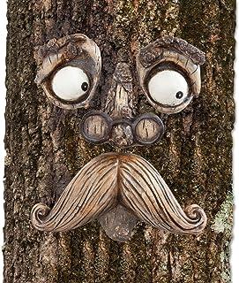 Bits and Pieces-Old Man Tree Hugger – Garden Peeker Yard Art – Outdoor Tree..