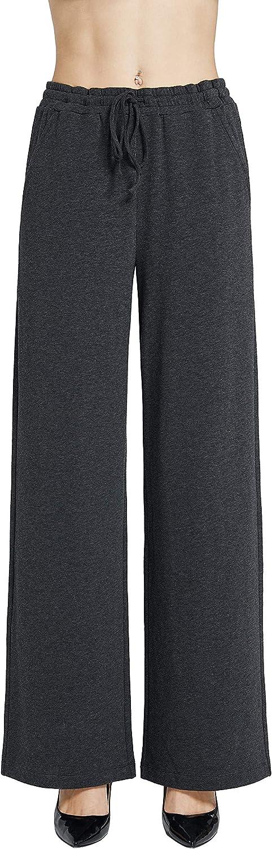 PACIBE Wide Leg Pants for Women Sport Knit Straight Legging Pant