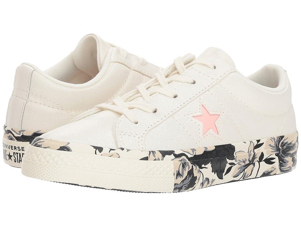 Converse Kids One Star Ox (Little Kid) (Egret/Storm Pink/Black) Girls Shoes