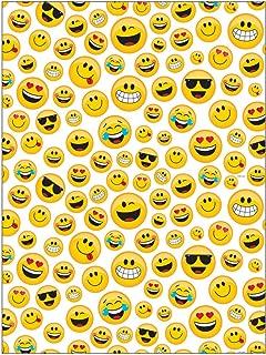 Creative Converting 329374 Show Your Emojions Plastic Photo Backdrop, 72 x 54-, Multicolor