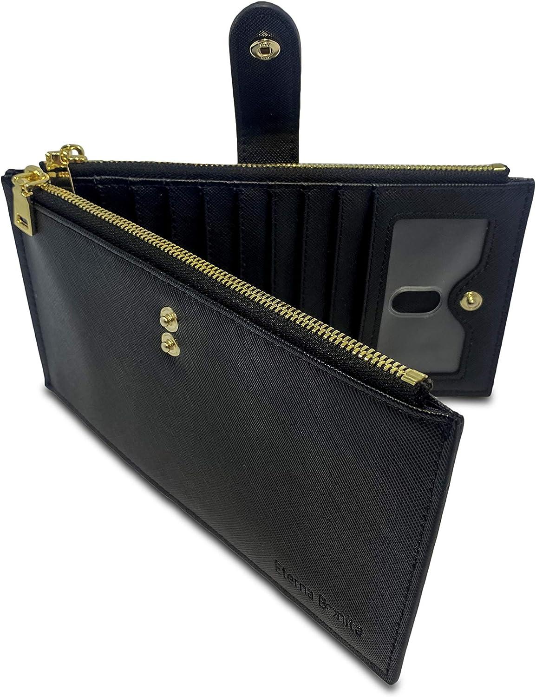 Eterna Bonita Womens Wallets RFID Blocking Wallet Bifold Multi Card Case Wallet with Zipper Pocket|