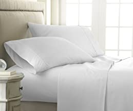 Becky Cameron 4 Piece Sheet Set Embossed Checker, KING, CHECK WHITE