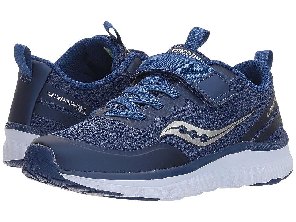 Saucony Kids Liteform Feel A/C (Little Kid) (Cobalt Blue) Boys Shoes
