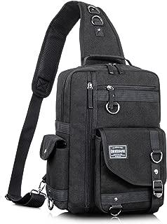 Leaper Messenger Bag Outdoor Cross Body Bag Sling Bag Shoulder Bag Black